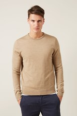 French Connection (Fcuk) MERINO WOOL CREW KNIT SAND MARL