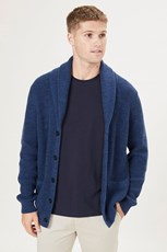 French Connection (Fcuk) SHAWL COLLAR CARDIGAN VINTAGE BLUE