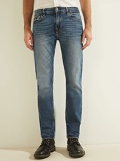 Guess Low-Rise Slim Straight Denim Jeans in Stratus Blue Wash