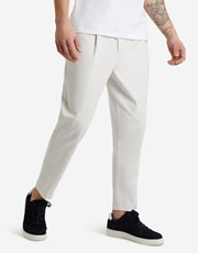 Lost Monarchy Cropped Pleat Chinos Stone