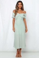 Hello Molly Sky Child Maxi Dress Pistachio