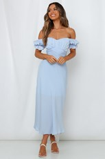 Hello Molly Sky Child Maxi Dress Steel Blue