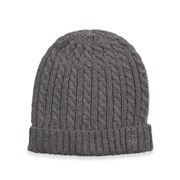 Jeff Banks CABLE AND RIB KNIT BEANIE 8733