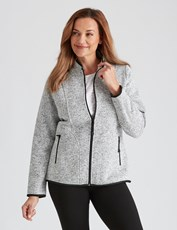 Millers Long Sleeve Active Zip Jacket LT GREY MELANGE