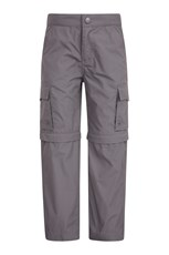 Mountain Warehouse Active Kids Convertible Trousers Dark Grey