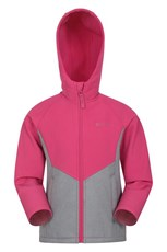 Mountain Warehouse Cosmic Kids Softshell Jacket Pink