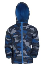 Mountain Warehouse Exodus Kids Printed Water Resistant Softshell Cobalt