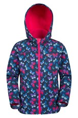 Mountain Warehouse Exodus Kids Printed Water Resistant Softshell Pink