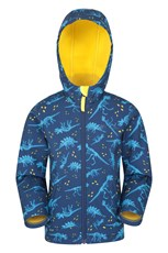 Mountain Warehouse Exodus Kids Printed Water Resistant Softshell Yellow