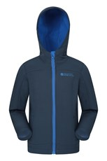Mountain Warehouse Exodus Kids Water Resistant Softshell Navy
