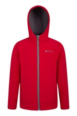 Mountain Warehouse Exodus Kids Water Resistant Softshell Red