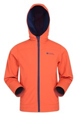Mountain Warehouse Exodus Kids Water-resistant Lightweight Softshell Orange