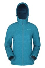 Mountain Warehouse Exodus Printed Womens Softshell Teal