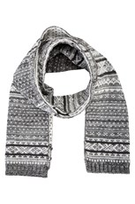 Fairisle Mens Scarf White