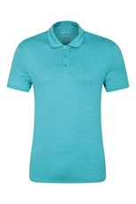 Mountain Warehouse Mens Agra Stripe Polo Bright Blue