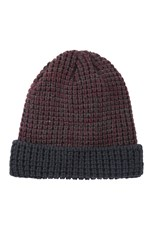 Mountain Warehouse Mens Textured Beanie Burgundy