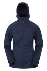 Mountain Warehouse Move Power Stretch Womens Slim-Fit Jacket Navy