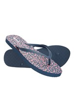 Mountain Warehouse Printed Womens Beach Flip-Flops Navy