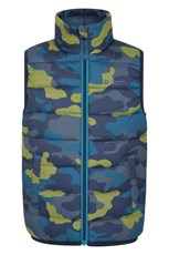 Mountain Warehouse Rocko Kids Printed Padded Gilet Lime