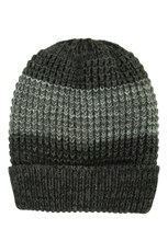 Mountain Warehouse Two-Tone Melange Mens Beanie Charcoal