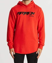Americain Agite Dual Curved Hoodie Red