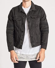 Nena & Pasadena Bandit Denim Jacket Jet Black