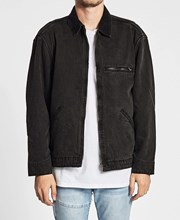 Thrills Carpenter Denim Jacket Faded Black