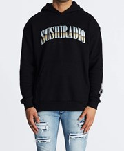 Sushi Radio Fears Relaxed Hoodie Jet Black