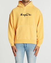 Nomadic Paradise Lets Go Relaxed Hoodie Pigment Marigold