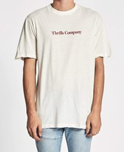 Thrills Service Merch Fit T-Shirt Dirty White