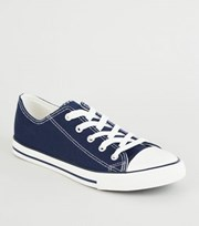 New Look Navy Canvas Stripe Sole Trainers