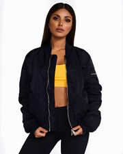 Nicky Kay Reversible Bomber Jacket: Navy + Yellow