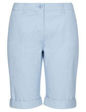NONI B FLY FRONT CHINO SHORT BEL AIR BLUE