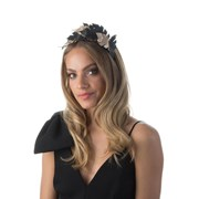 Olga Berg HOLLIDAY Two Tone Leaf Headband