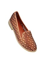 Django & Juliette Aduki Metallic Orange Leather Shoe