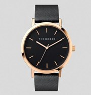 The Horse Polished Rose Gold / Black Band