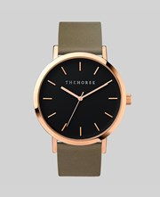 The Horse Rose Gold / Black Face / Olive Band