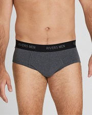 Rivers 5 Pack Men's Briefs Charcoal