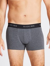 Rivers 5 Pack Mens Basic Boxers Charcoal