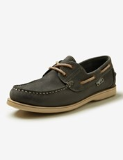 Rivers Leather Boat Shoe Washed Blue