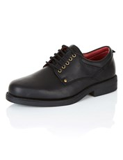 Rivers Leather Lace-Up Dress Shoe Black Tumbled