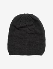 Rivers Textured Reversible Beanie Black