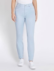 ROCKMANS F/L SKINNY LEG STUDDED SIDE JEAN powder blue