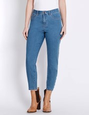 Rockmans 7/8 Ring Detail Skinny Jean light wash