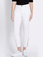 Rockmans 7/8 Ring Detail Skinny Jean white