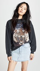 Anine Bing Bing Tiger Sweatshirt Black