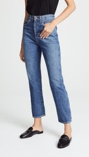 Agolde Pinch Waist High Rise Kick Jeans Placebo