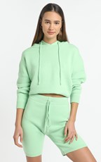 Showpo Cosy Club Knit Hoody in Mint