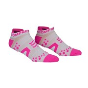 Compressport V2.1 Low Cut Socks - White/Pink