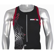 Ironman Activewear Ironman Mens Tri Top - Black/Red